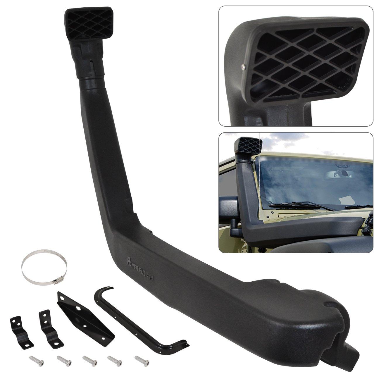 For Jeep Wrangler Jk 3.8L V6 4X4 Off Road Black Polyurethane High Mount Cold Ram Air Induction Snorkel System Kit