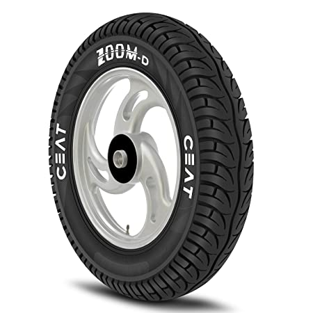 Ceat Zoom D 90/100-10 53J Ventless Tubeless Scooter Tyre,Front or Rear (Home Delivery)