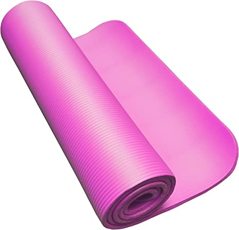 10mm Yoga Mat Pink Amazon Co Uk Sports Outdoors