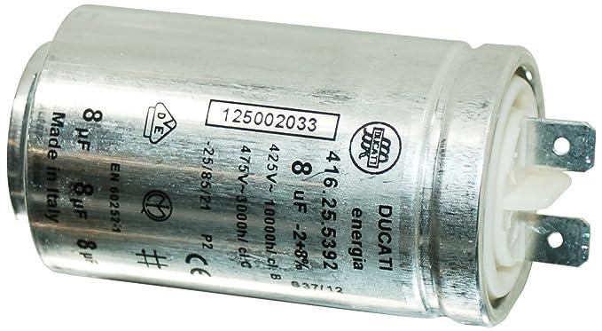 Genuine ZANUSSI tc7102wtc7103stc7103 W secador 8UF interferencias condensador