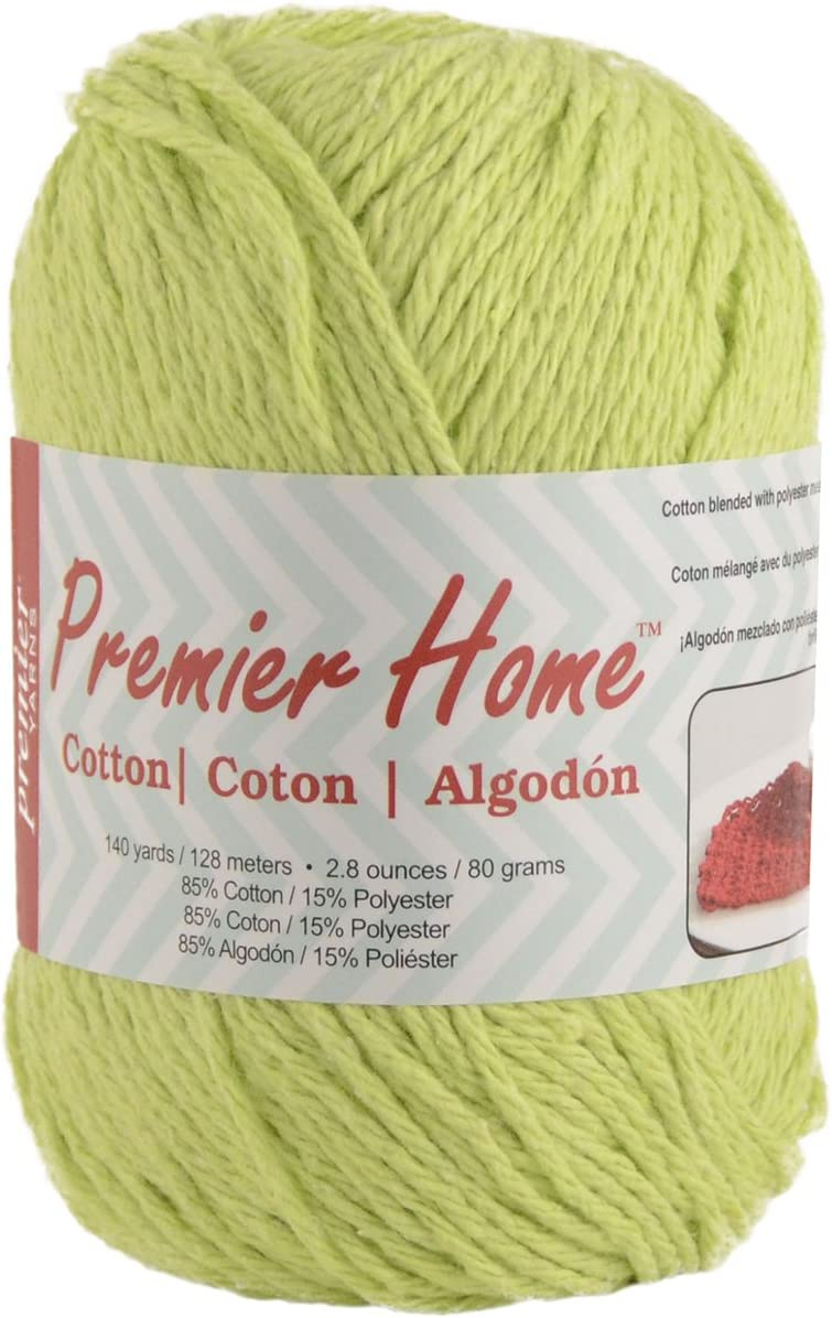 Premier Yarns Solid Home Cotton Yarn, Lime Green