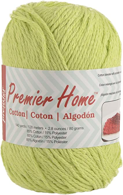 Solid-Lime Green 38-21 Premier Yarns Home Cotton Yarn