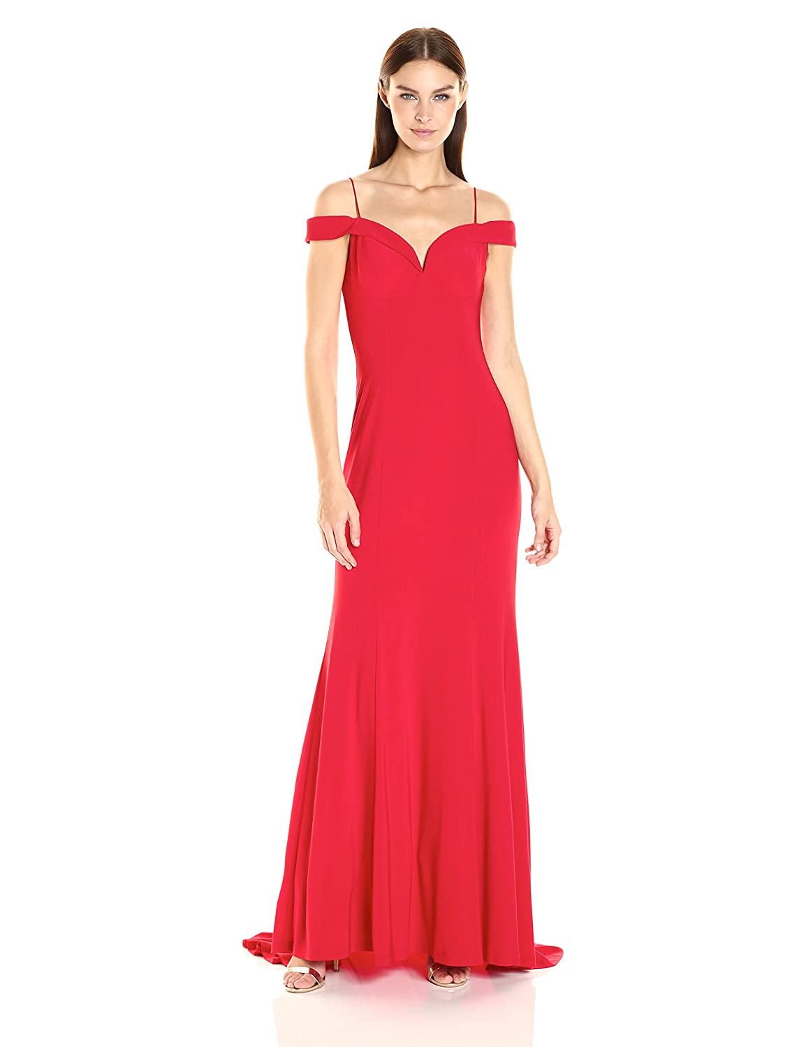 Amazon.com: Adrianna Papell Women\'s Jersey Off The Shoulder Gown ...