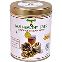 M.R Healthy Eats Organic Homemade Chana Sattu in Eco Friendly Steel Container (500 g)