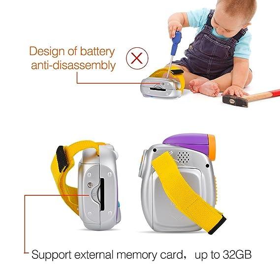 Roguci - Cámara digital para niños, cámara con pantalla entera, visor de 3,5 cm, pantalla totalmente a colores de 5 pulgadas con TFT, ranura para tarjeta SD ...