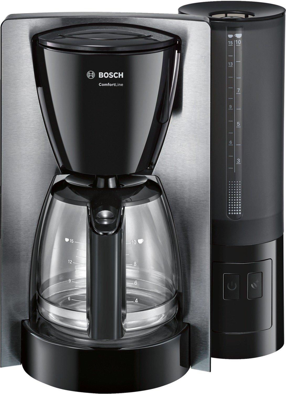 capacidad para 15 tazas Bosch TKA6A643 Cafetera de Goteo 1200 W color negro y acero inoxidable