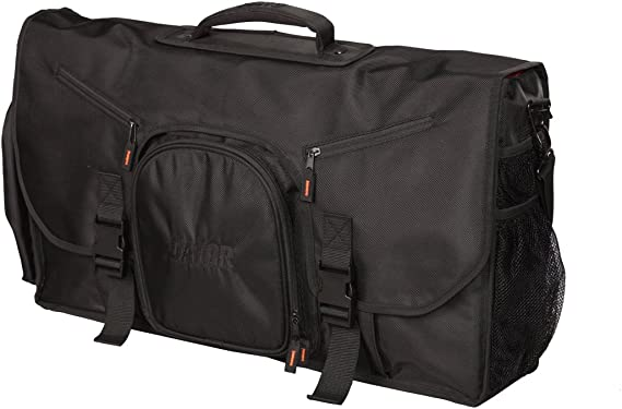 Gator Cases Club Series DJ Controller Messenger Bag with Bright Orange Interior; Fits Large Controllers - 25