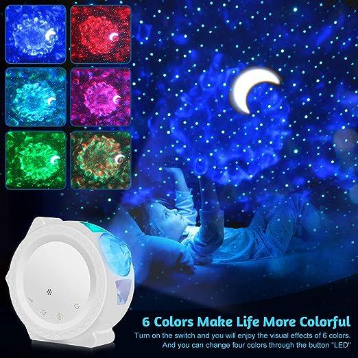 USB Starry Sky Projector LED Nebula Cloud Night Light 6 colores ...