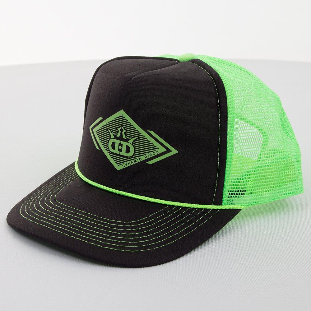 15a4bfcc729 Amazon.com   Dynamic Discs Lines of Sight Foam Front Snapback Mesh Disc  Golf Hat - Black w Blue   Sports   Outdoors