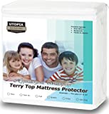 Amazon Price History for:Premium Hypoallergenic Waterproof Mattress Protector - Vinyl Free - Fitted Mattress Cover (Full) by Utopia Bedding