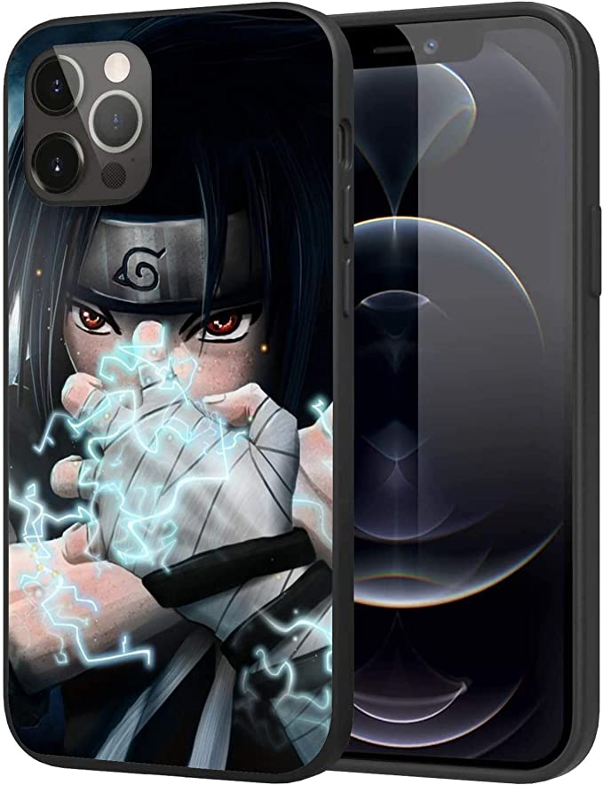 iPhone 12 Case iPhone 12 Pro Case, Case Plastic Soft Case Cover Case (Naruto-Sasuke-2)