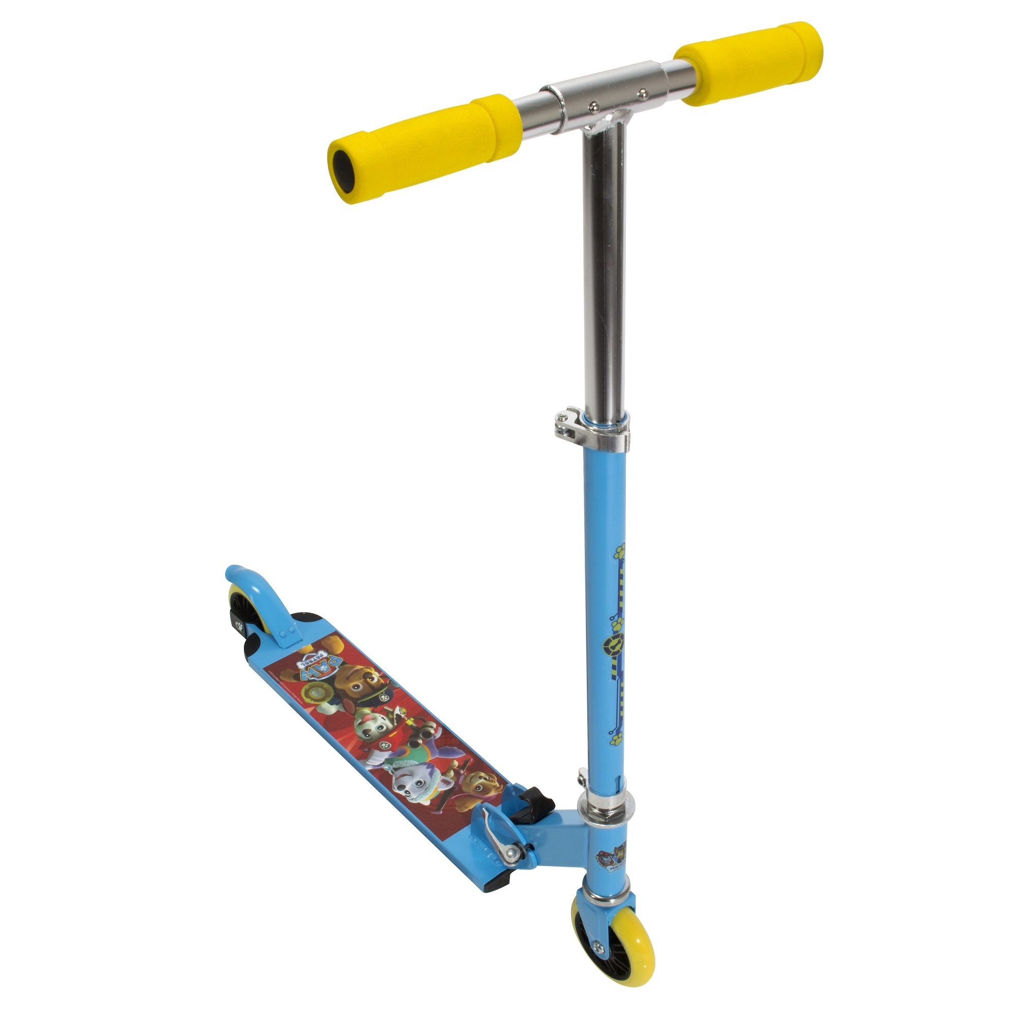 PlayWheels Paw Patrol Aluminum Folding Scooter - Childrens Freestlye Scooter