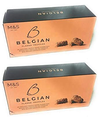Marks And Spencer Belgian Flaked Truffles Covered In Milk