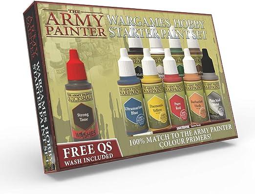 🧙The Army Painter Warpaints Kit de Pintura para Principiantes | 10 Pinturas Acrílicas y 1 Pincel para Principiante l Pintura de Modelos Miniatura para Wargames: Amazon.es: Juguetes y juegos