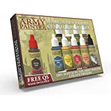 The Army Painter Miniatures Paint Set, 10 Model Paints with Free Highlighting Brush, 18ml/Bottle, Miniature Painting Kit…