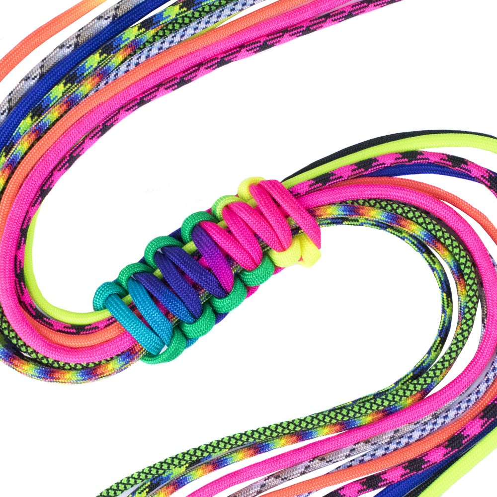 Paracord Planet 550lb Paracord Accent Cord for crafting Bracelets, Lanyards, Keychains, Shoelaces, and more - 10 different colors each 5 feet to 8 feet of Accent Cord