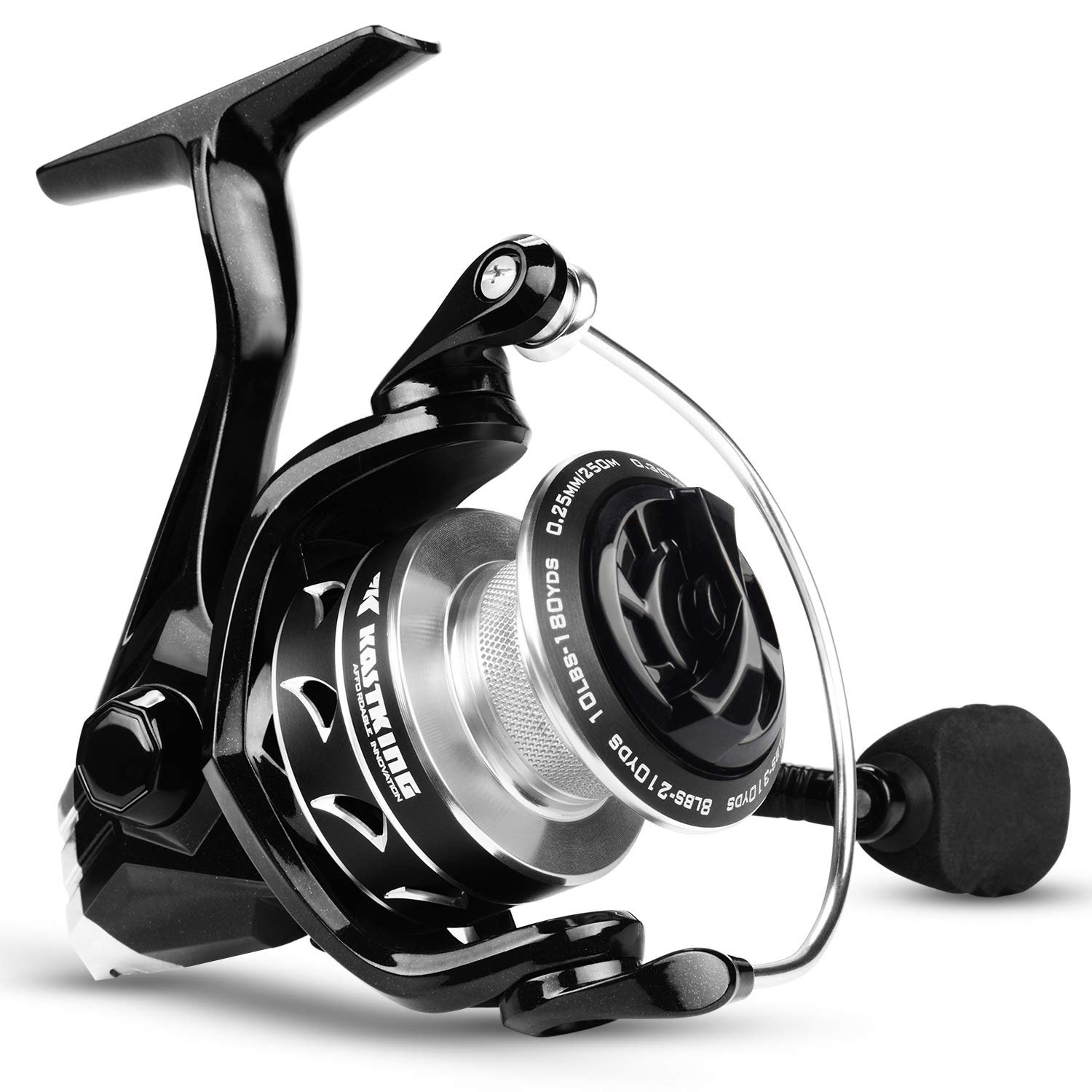 KastKing Valiant Eagle Series Spinning Reel – Bald Eagle Edition Fishing Reel, All Carbon Fiber Frame and Rotor, Never-Rust 1-Piece Bail, 6.2 1 High Speed Gear Ratio, Freshwater and Saltwater.