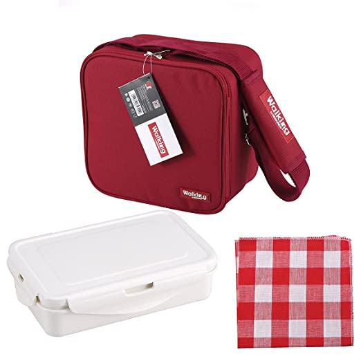 Bergner BG-3652-RD Porta Alimentos de poliéster, 23 x 22 x 13,5 cm, Rojo, Centimeters