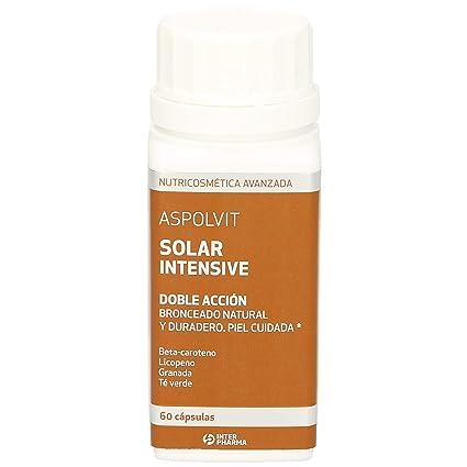 Aspolvit – Solar Intensive complemento alimenticio ayuda al bronceado natural, 60 comprimidos