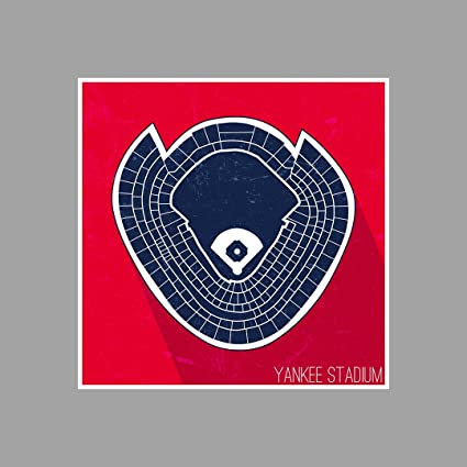 Amazon.com: ArtsyCanvas Yankee Stadium Seating Map - Baseball ...