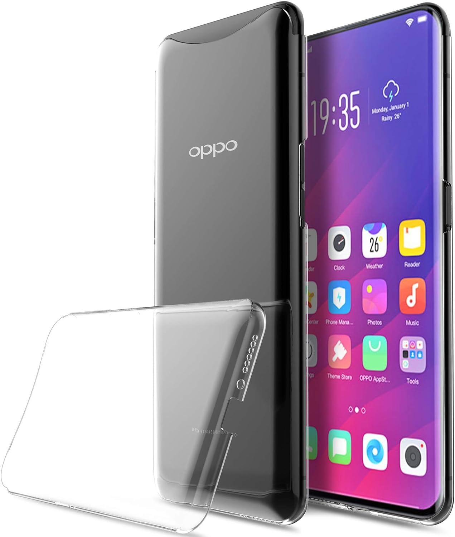 KuGi Funda OPPO Find X,OPPO Find X PC Transparente Slim Silicona ...