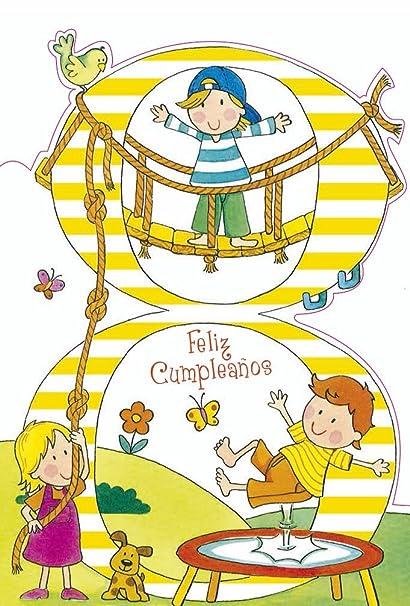 Grupo Erik Editores TF00208 - Tarjeta de felicitación, 11 x 16 cm, diseño Feliz Cumpleaños 8