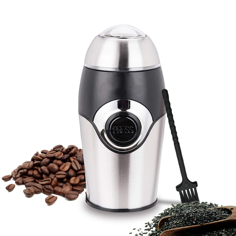 220V Mini Electric Coffee Grinder Maker Stainless Steel,220V,Au