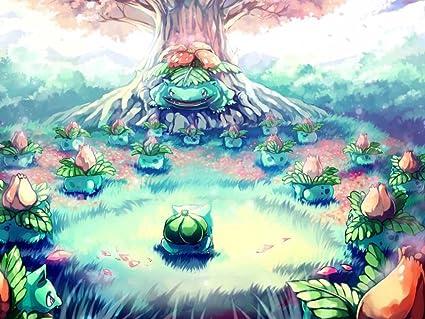 Amazoncom Pokemonbulbasaur Ivysaur Venasaur Art Print On