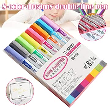 School Supplies Writing Stationery Painting Colored Ink Signature Pen Glitter