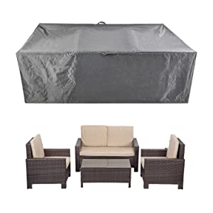 "Patio Furniture Set Covers Waterproof Outdoor Table Covers Sectional Conversation Loveseat Sofa Set Covers Waterproof Durable Heavy Duty88"" L x 58"" W x 28"" H"