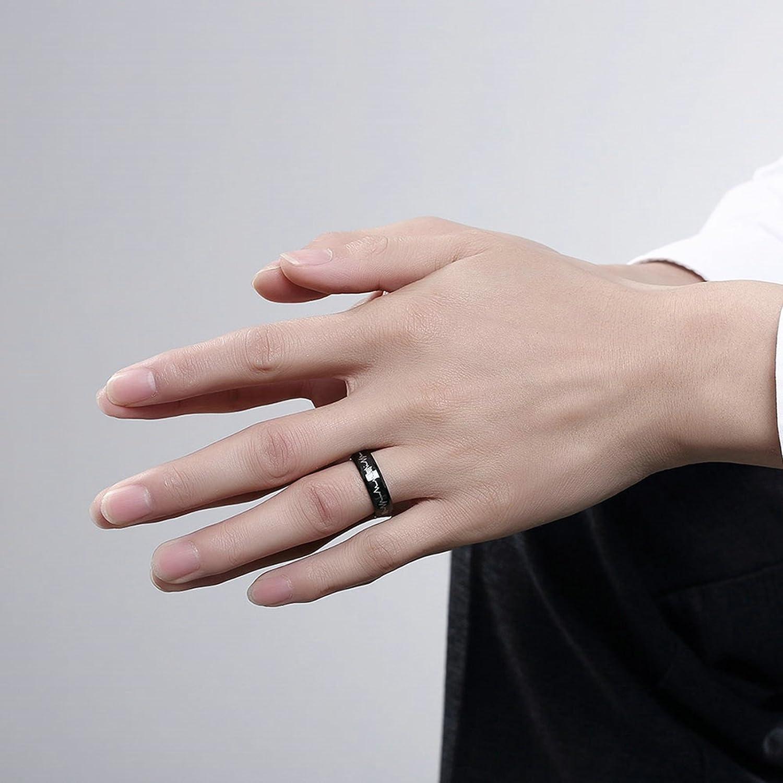 SanJiu Jewelry Men Wedding Engagement Rings Round Stainless Steel ...