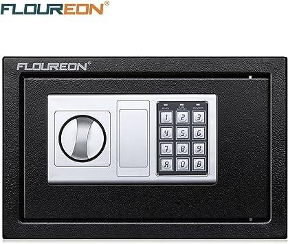 Caja Fuerte de Seguridad, FLOUREON 8.5L Cerradura de Teclado ...