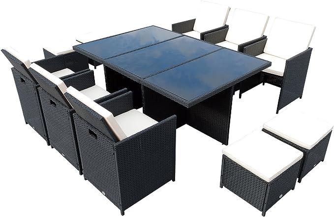 Outsunny - Juego de Mesa y sillas (polirratán, 27 Piezas) Mueble ...