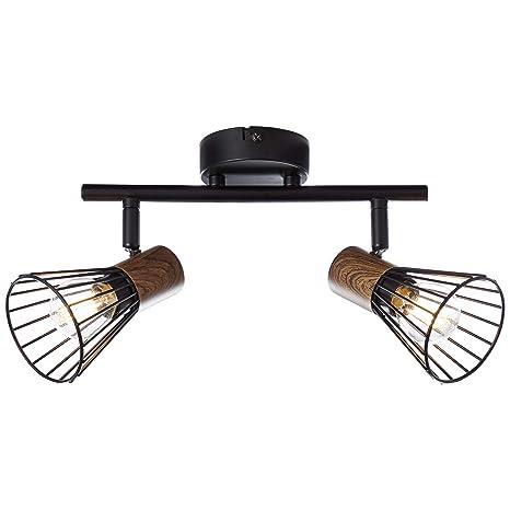 Brilliant Manama - Lámpara de techo (2 focos, madera), color ...