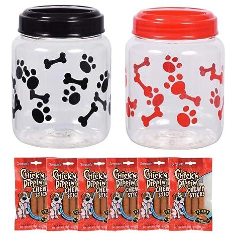 Amazon.com: Tarros de almacenamiento de plástico para comida ...