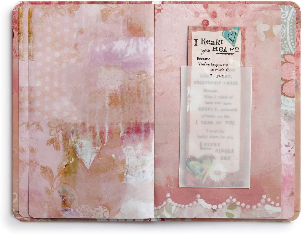 I Heart Your Heart Manifesto Lucky Star Floral Pink 7 x 5 Paper Magnet Gift Book
