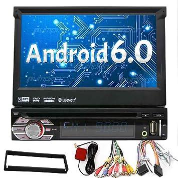 1 din universal estéreo Android 6.0 Quad Core de coches Receptor GPS reproductor de DVD Wifi
