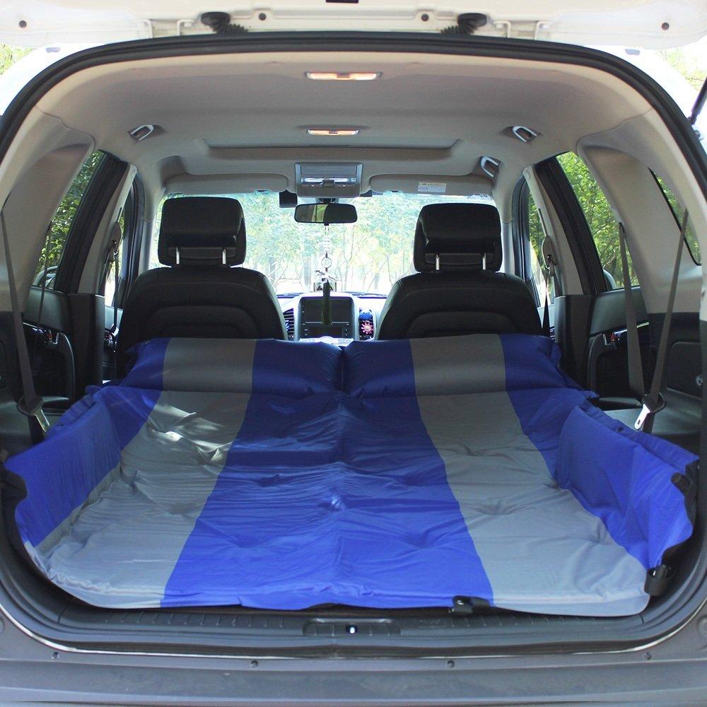ASL Im Freien Einzelnes Doppeltes SUV Automatisches aufblasbares Matratze-Auto-Bett-aufblasbares Bett-Auto-Bett-Auto-Schlag-aufblasbares Kissen Qualität ( Farbe : Blau , größe : 192132CM )