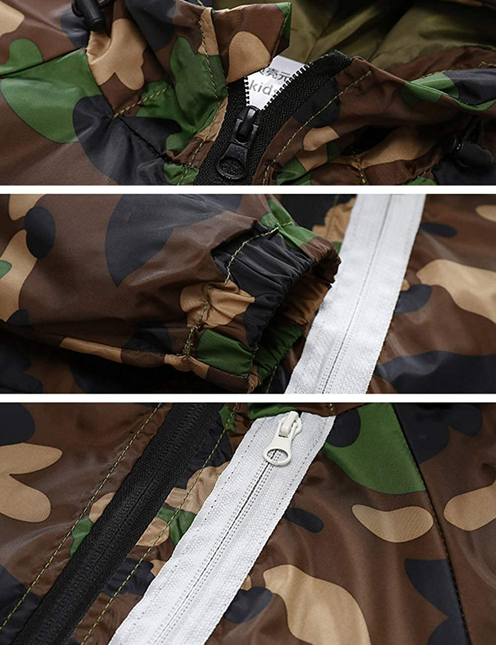 BESBOMIG Boys Girls Soft Camouflage Hooded Jacket Windbreak Outwear Lightweight