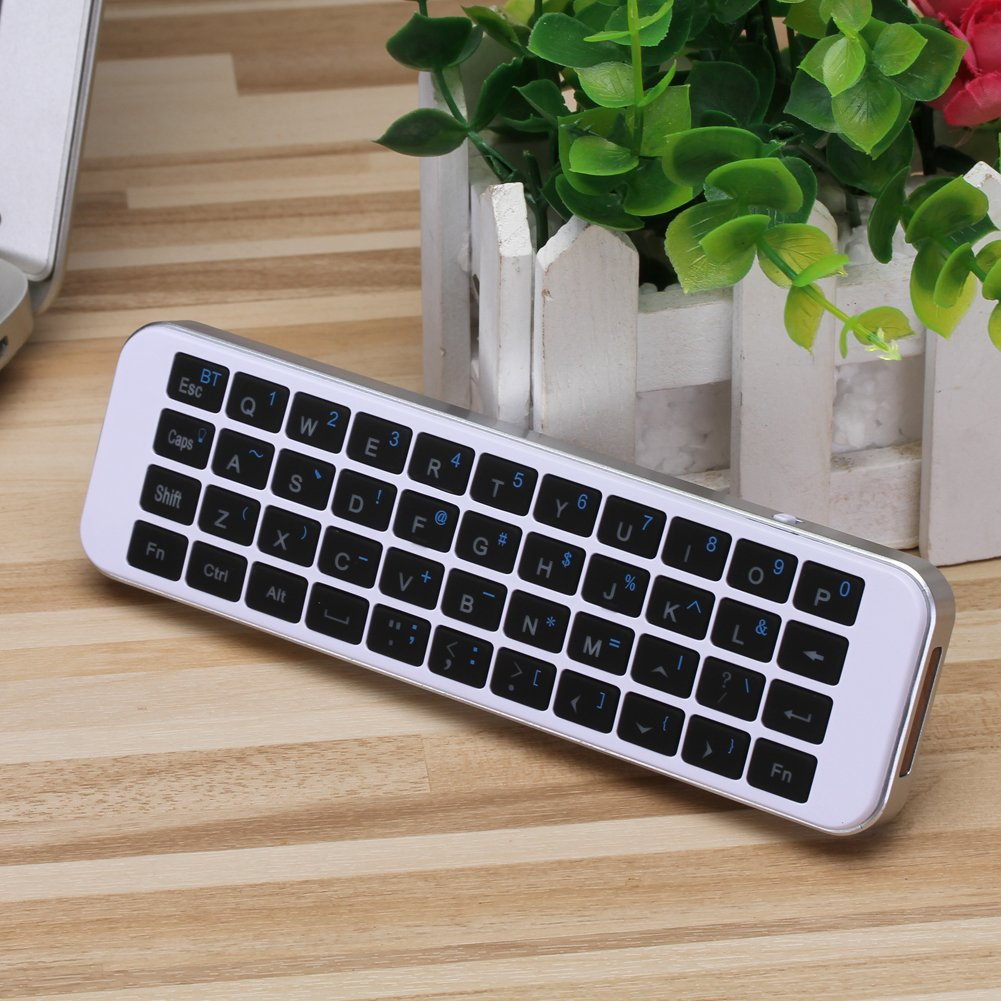 (Updated with Backlit) iPazzPort Bluetooth Keyboard Mini Wireless Keyboard LED Backlit Handheld Remote for PC, Smart TV,Android Box, KP-810-30BL by iPazzPort (Image #1)