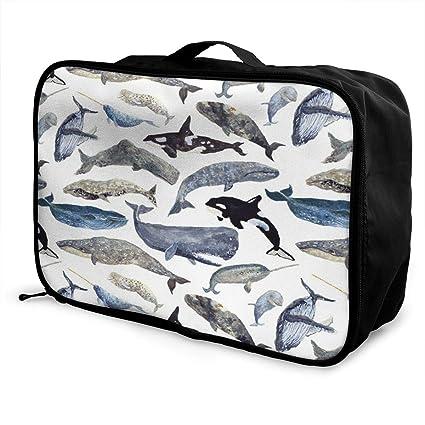 ADGAI Miniature Doberman Pinscher Canvas Travel Weekender Bag,Fashion Custom Lightweight Large Capacity Portable Luggage Bag,Suitcase Trolley Bag