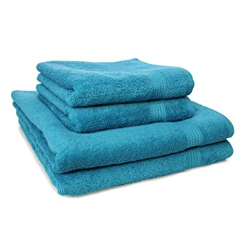 neu.haus® 5x Handtuch 50x100cm Duschtuch Handtücher 100/% Baumwolle Schwarz
