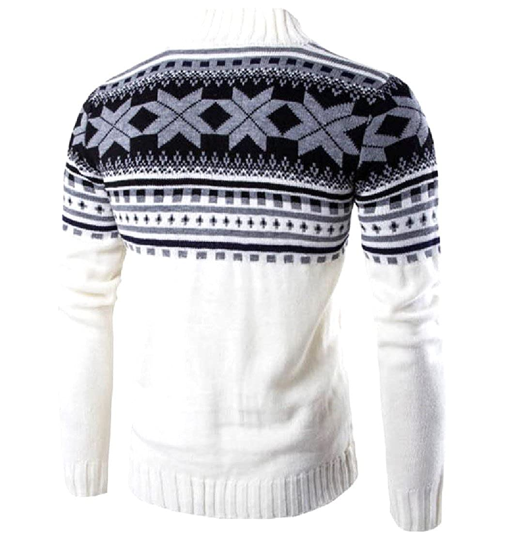 Sexybaby Mens Snowflake Mix Color Autumn Winter Fashion Sweater Tops