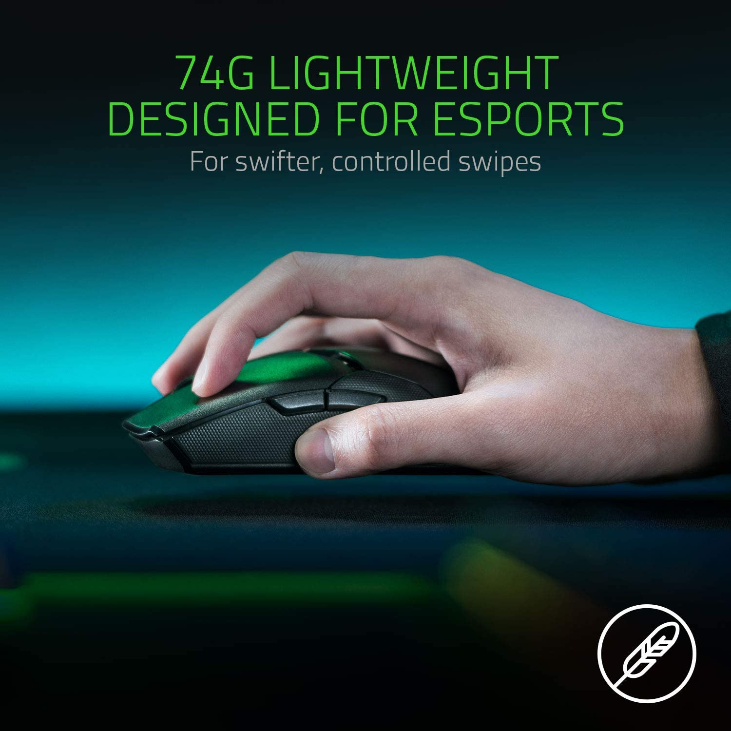 Razer Viper Ultimate Ambidextrous Gaming Mouse with Razer HyperSpeed Wireless - Black 8
