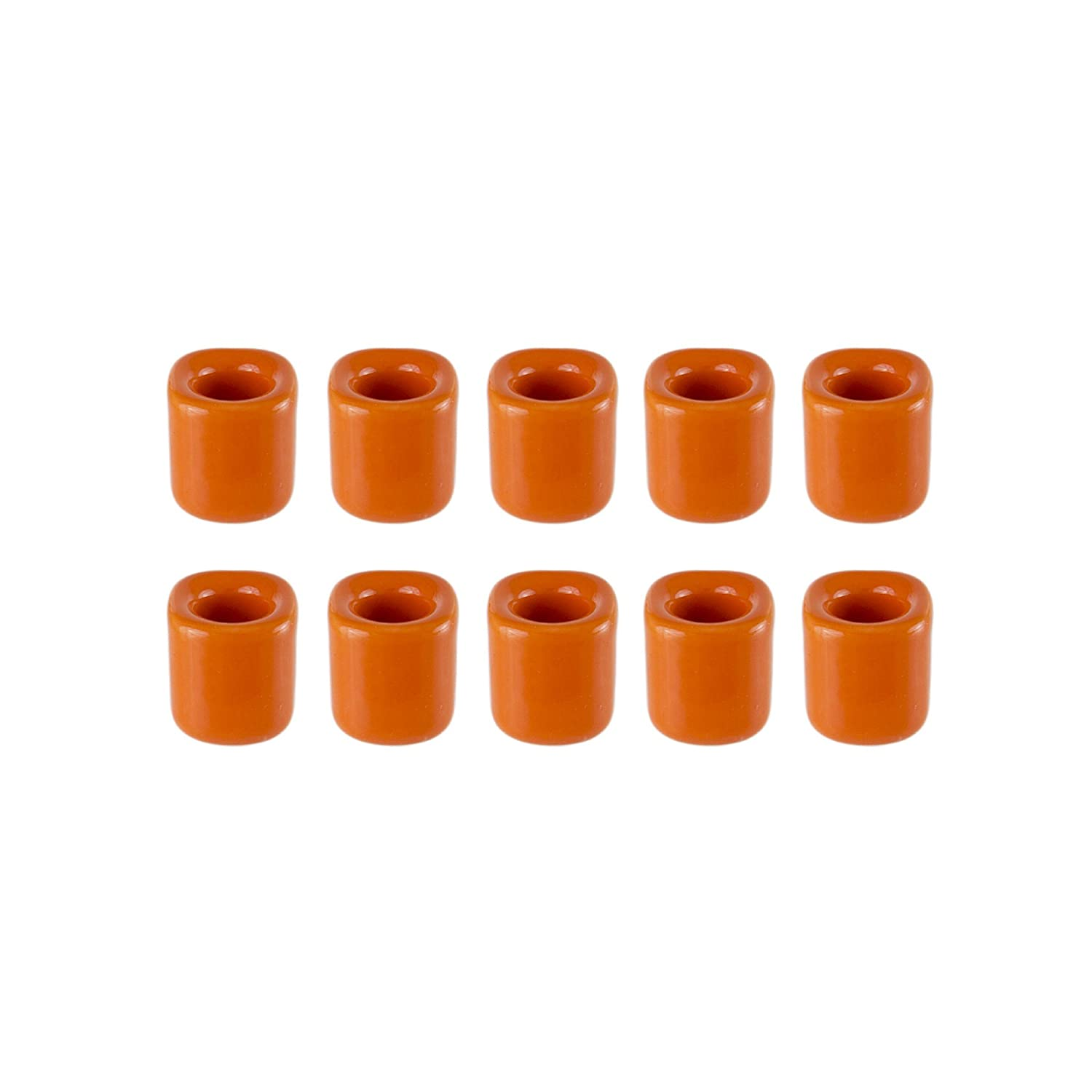 Mega Candles 10 pcs Ceramic Chime Ritual Spell Candle Holders Assorted Colors