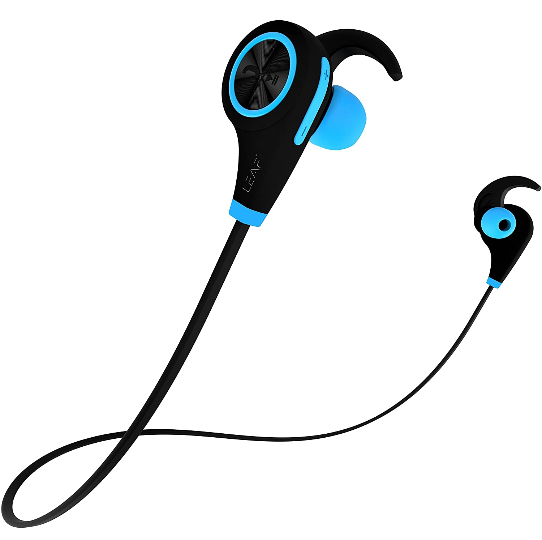 Leaf Ear Bluetoothイヤホン高音質apt-X互換スポーツBluetoothイヤホン(青)とソフトイヤーフック B071HX5JSJ クールブルー