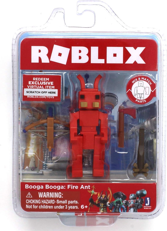 Amazon Com Roblox Booga Booga Fire Ant Single Figure Core Pack