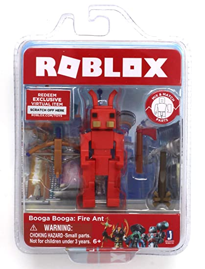 Roblox Booga Booga Fire Ant Single Figure Core Pack With Exclusive Virtual Item Code - all roblox redeem items