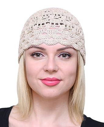 Nfb Fascinator Hats For Women Ladies Summer Beanie Cotton Cloche