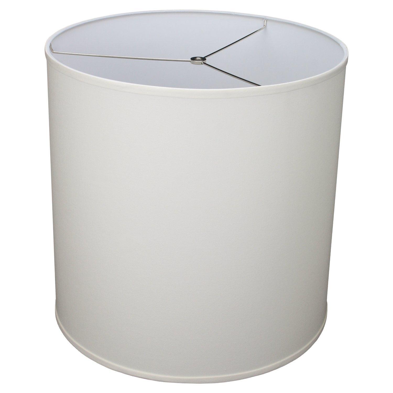 FenchelShades.com 18'' Top Diameter x 18'' Bottom Diameter 18'' Height Cylinder Drum Lampshade USA Made (Cream)